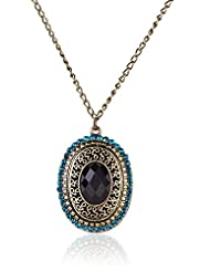 Cinderella Collection By Shining Diva Ethnic Feel Long Chain Pendant Necklace