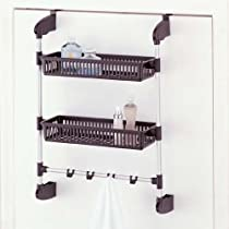 2 Basket Organize It All Over The Door Unit With Hooks