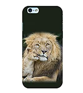 printtech Nature Animal Lion Cub Back Case Cover for Apple iPhone 6