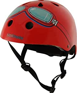 KIDDIMOTO SAFETY HELMET Red with Goggles Size Small