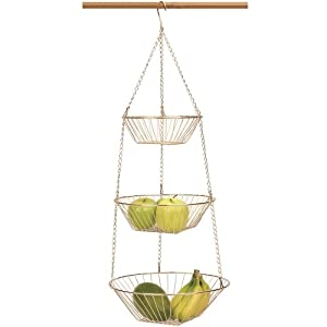 Amazon.com - RSVP Endurance 3-Tier 30 Inch Copper Hanging Baskets -