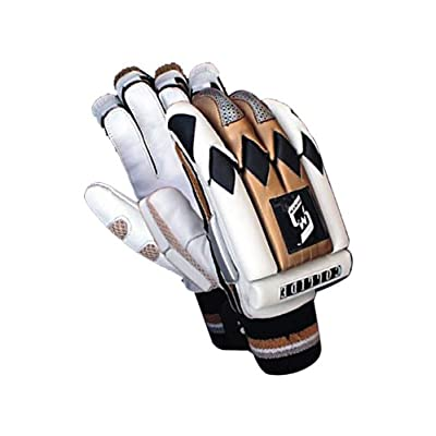 SM Collide Batting Gloves, Men's (White/Brown)