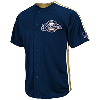 MLB Milwaukee Brewers Crosstown Rivalry Jersey, Navy/Harvest Gold/White