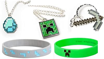 Minecraft Stocking Stuffer Bundle With Pickaxe Diamond And Creeper from Jinx