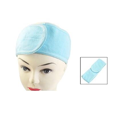 Rosallini Spa Bathing Make Up Wash Face Cosmetic Headband Hair Band Light Blue