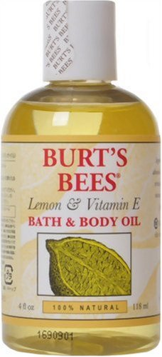 Burt's Bees Lemon & Vitamin E Bath & Body Oil, 4-Ounce Bottles (Pack of 2)