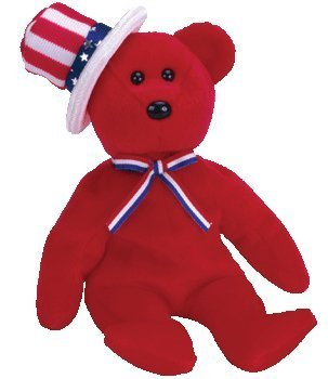Ty Beanie Babies Sam - Bear Red - 1