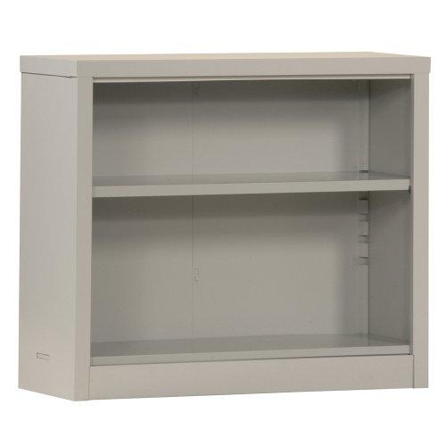 "Sandusky Lee BQ10351330-09 Dove Gray Steel Powder Coated Snapit Bookcase with Adjustable Shelf, Fixed Bottom Shelf, 200 lb. Per Shelf Capacity, 30"" Height x 34-1/2"" Width x 13"" Depth"