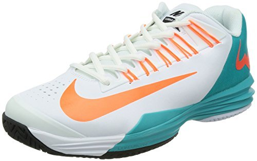 Nike, Scarpe da tennis uomo, Bianco (White/Blue/Orange), 12 UK