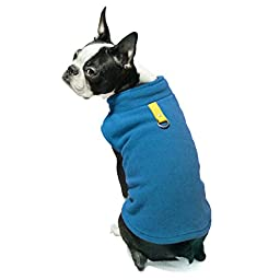 Gooby Every Day Fleece Cold Weather Dog Vest for Small Dogs, Deep Blue, Large