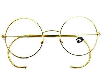 Amazon.com: Agstum Retro Round Optical Rare Wire Rim