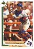 1991 Upper Deck Final Edition Baseball #55F Ivan Rodriguez Rookie Card