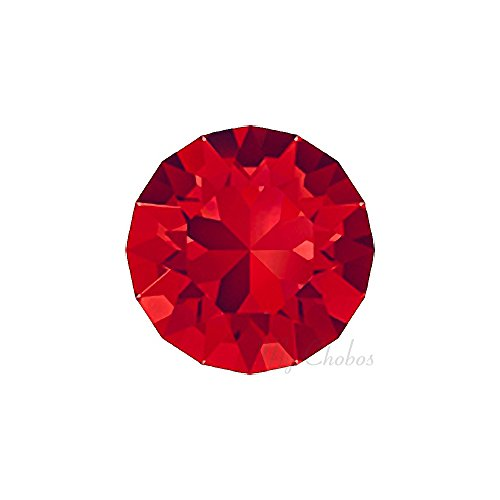 LIGHT SIAM (227) red Swarovski 1088 XIRIUS Chaton Round Stones pointed back rhinestones ss39 (8.16 - 8.41 mm) 18 pcs (1/8 gross) *FREE Shipping from Mychobos (Crystal-Wholesale)*