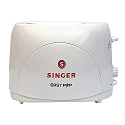 Singer PT-22 Easy Pop 700 watts 2 Slice Pop up Toaster (White)