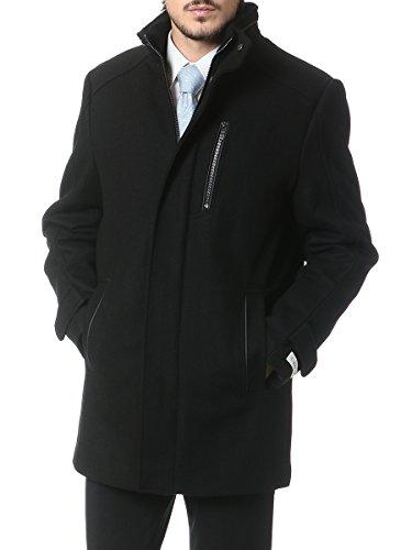 (カルバンクライン) Calvin Klein [秋冬]メルトン ウール混 スタンドカラー コート ブラック / S