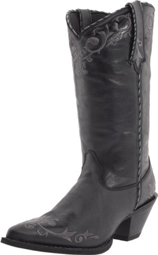 Durango Women's Crush 12-Inch Embroidered Boot,Black,8.5 B US