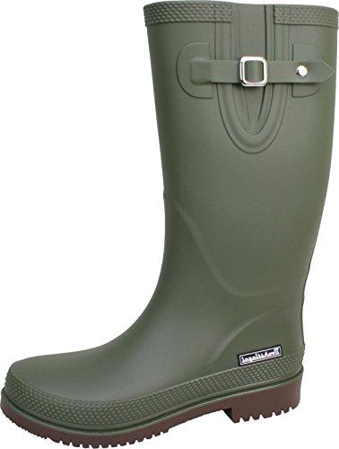 bockstiegelr-jette-standard-donna-stivali-di-gomma-fibbia-laterale-alla-moda-logo-del-marchio-produz