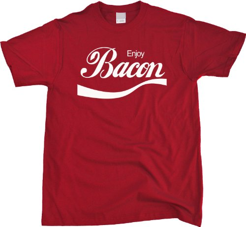 Enjoy Bacon Unisex T-Shirt - BBQ Grill, Pork Lover Tee - Xl