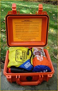 Survival Kit Pouch Plus Stainless Steel Knife by Survival Resources by Survival Resources