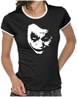 Heath Ledger - JOKER Girlie Ringer T-Shirt S-XL div. Farben