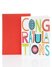 Contemporary Text Congratulations Card