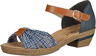 Rieker 63253 Damen Sandalen Blau, EU 36