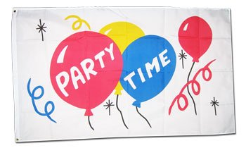 Party Time - Novelty flags
