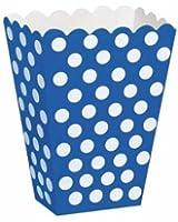 8 boites à bonbons à pois Polka Bleus et Blancs