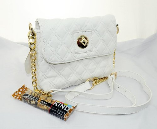 "IN STYLE ""225″ Quilted Crossbody CHANEL Designer Inspired Handbag for Women (White)"