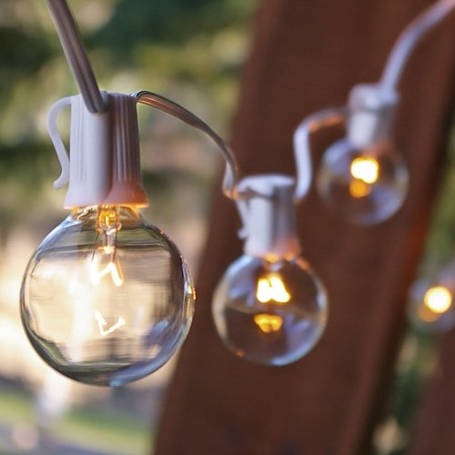 Clear Globe String Lights White Cord : Spring Rose(TM) 25 Clear Patio String Globe Lights With White Cord. These Are Great For Holidays ...