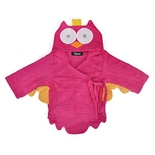 TopTie Blue Shark Hooded Bathrobe, Terry Baby Towel Bath Robe Shower 0-9 months OWL-S