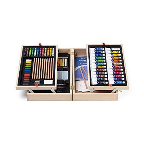 reeves-valigetta-con-set-di-colori-a-pastello-pastelli-a-cera-acquerelli-e-gessi