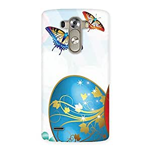 Impressive Animated Butterflies Print Back Case Cover for LG G3