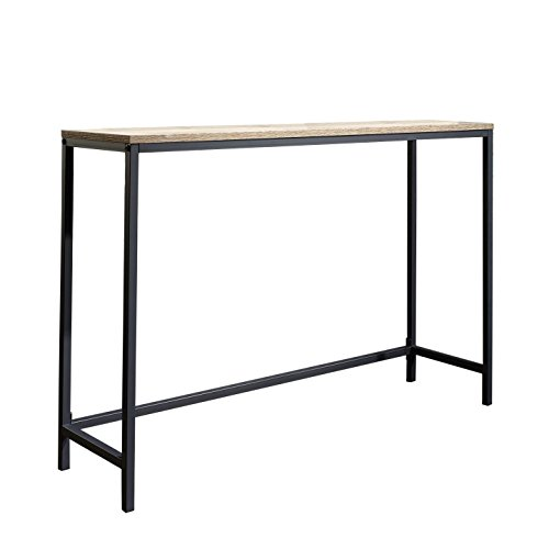 Sauder North Avenue Console Table in Charter Oak (Console Table With Metal compare prices)