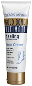Gold Bond  Ultimate Healing , Foot Cream, 4-Ounce Bottle (Pack of 4)