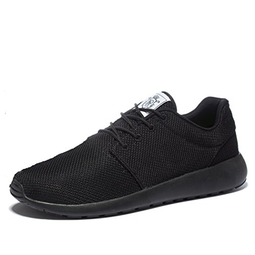 Wei Men's Breathable Running Shoes,Walk,Beach Aqua,Outdoor,Water,Rainy,Exercise,Drive,Athletic Sneakers EU46 All Black (Cheap Shoes For Men compare prices)