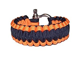 ReadyGear Paracord Bracelet - Midnight Blue / Orange 7""