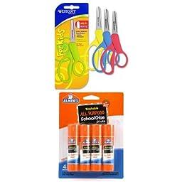 Kids Scissors and Glue Stick Bundle