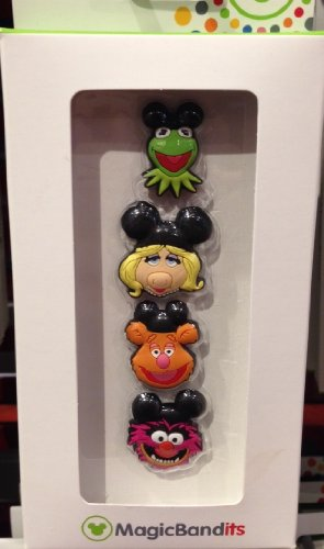 Disney Parks Muppets Magic Band Bandits Set of 4 Charms