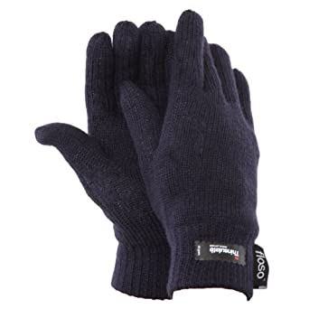 FLOSO® Ladies/Womens Thinsulate Thermal Knitted Gloves (3M 40g) (One Size) (Navy)