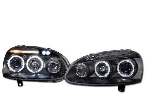 Blk Drl Led Halo Projector Head Lights Signal Jy Vw Golf Gti Jetta Mkv