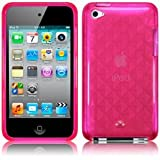 iPod Touch 4 4G 4th Generation Gel Case Cover Funky Diamond Etched Hot Pink Design Keep Talking iPod Touch 4 Accessories: Cases, Covers and Skinsby The Keep Talking Shop