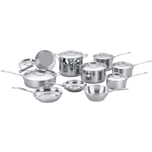 Cuisinart 77-17 Chef's Classic Stainless 17-Piece Cookware Set (Pan Set Cuisinart compare prices)