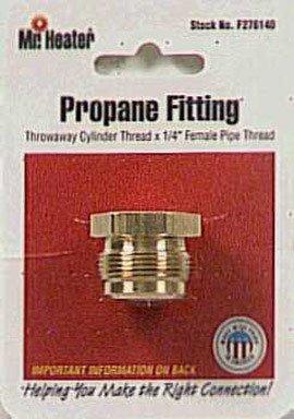 Mr. Heater Propane Male Throwaway Cylinder Adapter 1-20 Male Throwaway Cylinder Thread X 1/4 Inch Female Pipe Thread #F276140