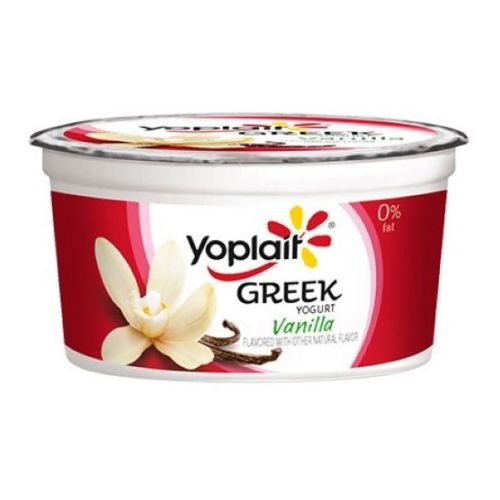 Yoplait Zero Percent Milkfat Vanilla Greek Yogurt, 4 Ounce -- 24 per case. (Greek Yogurt Vanilla compare prices)