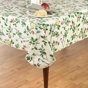 Amazon Com Serene Morning Flannel Back Vinyl Tablecloth