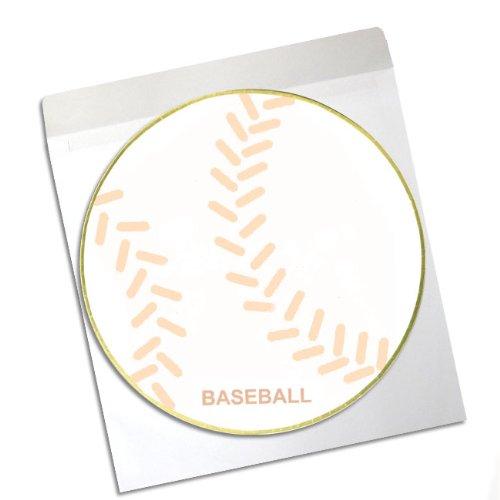 ボール柄色紙 野球ボール Φ25cm(封筒つき)
