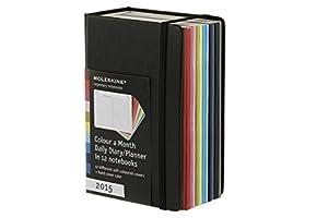 Agenda journalier 2015 - 1 couleur par mois
