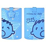 Authentic Sanrio Minna No Tabo Leather Pouch Cell Phone Samsung Galaxy S4 S3 S III iPhone 5 HTC Blackberry Case Blue