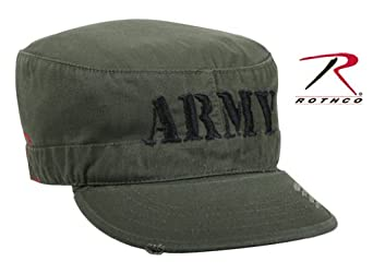 Rothco Vintage Fatigue Embroidered Cap / Army in Olive Drab - Medium